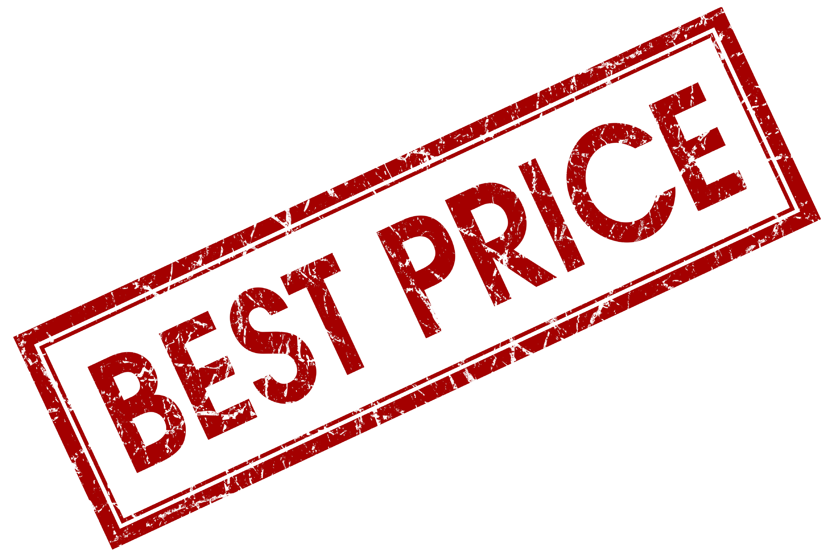 best price red square stamp